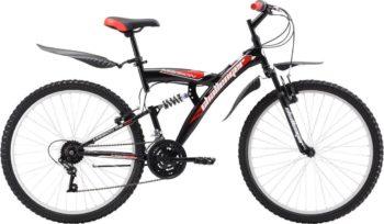 "24 dvukhpodves chernyy krasnyy 350x204 - Велосипед Стелс (Stels) Challenger V 24"" Z010, Сталь , р16"", цвет   Чёрный/красный"