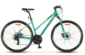 "Cross 130 MD Lady 28 V010 green matt 350x228 - Велосипед Стелс (Stels) Cross-130 MD Lady 28"" V010 , Алюминий , р. 18"", цвет Зелёный"