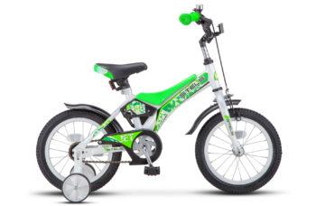 "Jet 14 Z010 white light green 350x228 - Велосипед Стелс (Stels)Jet 14"" Z010, Сталь , р 8,5"", цвет   Белый/салатовый"