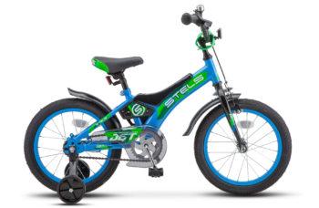 """Jet 16 Z010 Blue Green 350x228 - Велосипед Стелс (Stels) Jet 16"""" Z010, Сталь , р 9"""", цвет   Голубой/зелёный"""