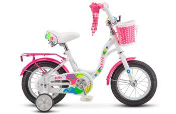 "Jolly 12 V010 white pink 350x228 - Велосипед Стелс (Stels) Jolly 12"" V010, Сталь , р 10"", цвет   Белый/розовый"
