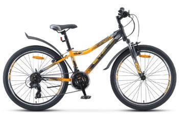 """Navigator 410 V 24 21 sp V010 black yellow matt 350x228 - Велосипед Стелс (Stels) Navigator-410 V 24"""" 21-sp V010, Сталь , р13"""", цвет Чёрный/жёлтый"""