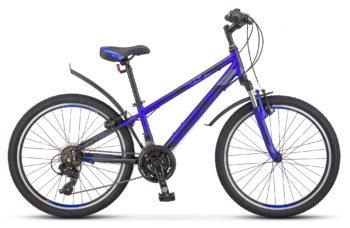 "Navigator 440 V 24 V030 matt blue 350x228 - Велосипед Стелс (Stels) Navigator-440 V 24"" V030, Алюминий , р13"", цвет   Серебристый/синий"