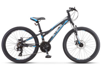 "Navigator 460 MD 24 K010 black white blue 350x228 - Велосипед Стелс (Stels) Navigator-460 MD 24"" K010, Алюминий , р11"", цвет  Чёрный/синий"