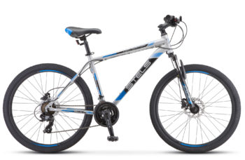 """Navigator 500 D 26 F010 silver blue 350x228 - Велосипед Стелс (Stels) Navigator-500 D 26"""" F010 , Сталь, р 16"""", цвет  Серый/синий"""