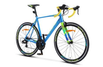 "XT280 28 V010 blue yellow 2 350x228 - Велосипед Стелс (Stels) XT280 28"" V010  700С , Алюминий X6, р. 20"", цвет  Синий/жёлтый"